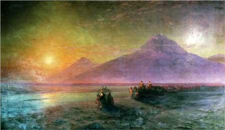 Dejection of Noah from mountain Ararat - Ivan Aivazovsky