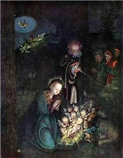 Nativity (Holy Night, Christmas) - Lucas Cranach the Elder
