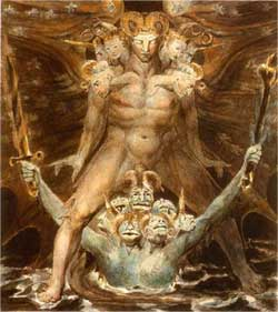 The Great Red Dragon and the Beast from the Sea - William Blake