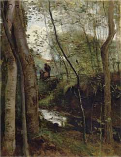 Stream in the Woods - Camille Corot