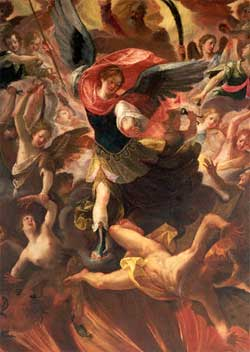 Archangel Michael in Combat With Lucifer - Antonio Maria Viani
