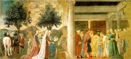 Procession of the Queen of Sheba and Meeting between the Queen of Sheba and King Solomon - Piero della Francesca