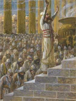 Solomon Dedicates the Temple at Jerusalem - James Tissot