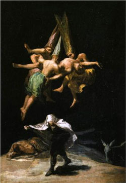 Witches in the Air - Francisco Goya