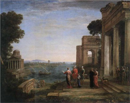 Aeneas and Dido in Carthage - Claude Lorrain