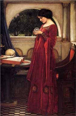 The Crystal Ball - John William Waterhouse