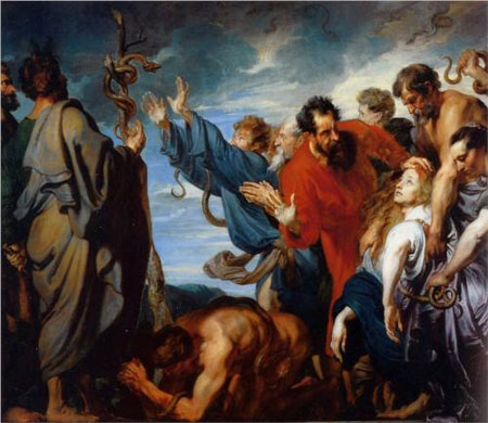 Mozes and the brass snake - Anthony van Dyck