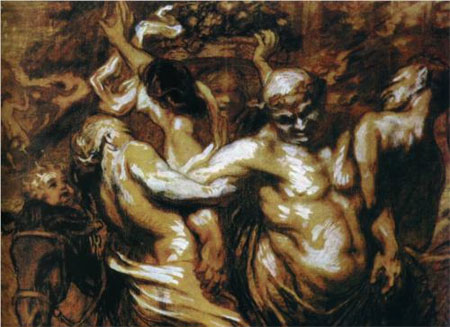 The Intoxication of Silène - Honore Daumier