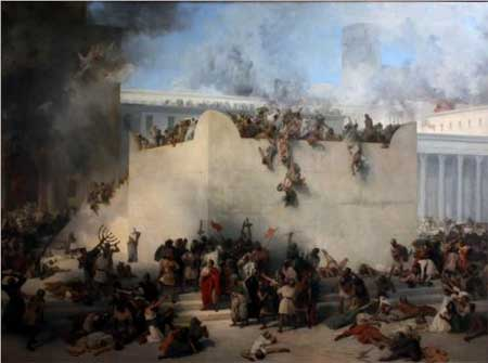 Destruction of the Temple of Jerusalem - Francesco Hayez