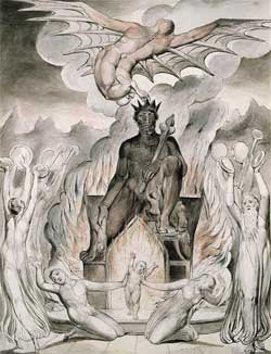 The Flight of Moloch - William Blake