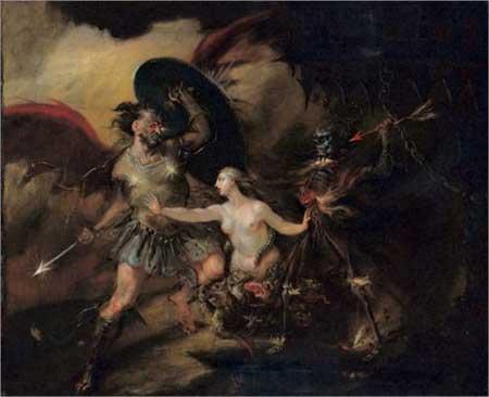 Satan, Sin and Death - William Hogarth
