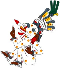 Mictlantecuhtli in the Codex Borgia