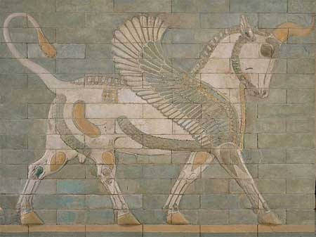 Winged bull - Palace of Darius I - Susa, Iran