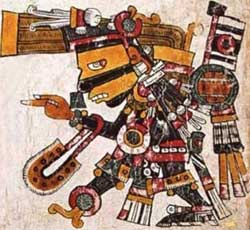 Black Tezcatlipoca - Codex Borgia