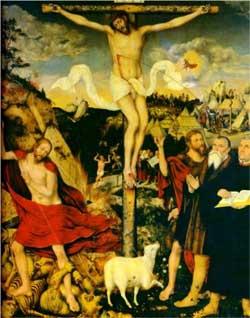 Christ as Savior with Martin Luther - Lucas Cranach the Elder