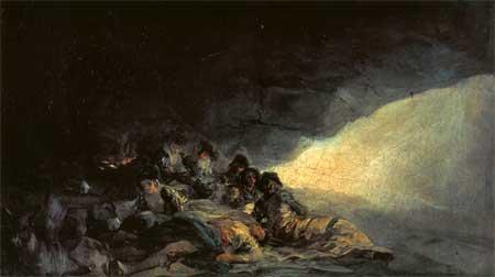 Vagabonds Resting in a Cave - Francisco Goya