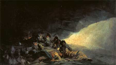 Vagabonds Resting in a Cave - Francisco Goya