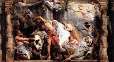 The Victory of Eucharistic Truth over Heresy - Peter Paul Rubens