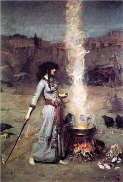The Magic Circle - John William Waterhouse