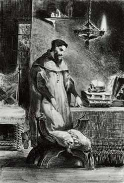 Faust in his Study - Eugene Delacroix