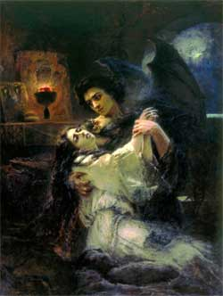 Tamara and Demon - Konstantin Makovsky