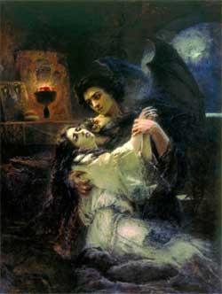 Tamara and Demon - Konstantin Makovsky