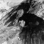 Demon looking to the valley - Mikhail Vrubel