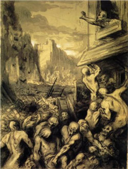 Destruction of Sodome - Honore Daumier