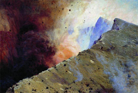 Eruption of volcano - Mykola Yaroshenko, 1898